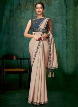 Beads Work Contemporary Style Saree