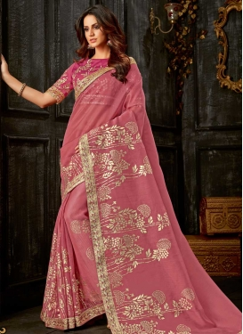 Beads Work Designer Contemporary Style Saree