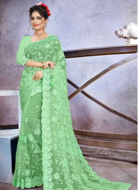 Beads Work Designer Contemporary Style Saree
