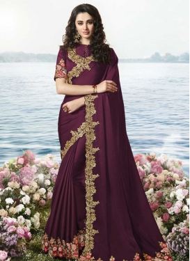 Beads Work Designer Traditional Saree