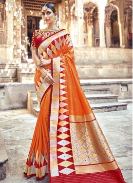Beads Work Designer Traditional Saree For Festival