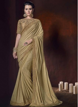 Beads Work Fancy Fabric Classic Saree