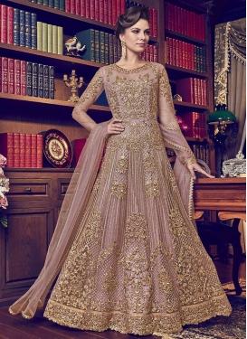 Beads Work Floor Length Designer Salwar Suit