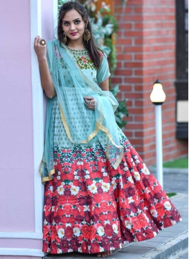 Beads Work Floor Length Trendy Gown
