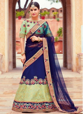 Beads Work Jacquard Silk Trendy Designer Lehenga Choli