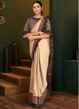 Beads Work Lycra Designer Contemporary Style Saree