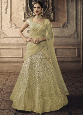 Beads Work Net Lehenga Choli