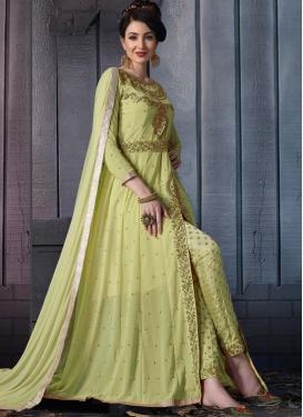 Beads Work Pant Style Designer Salwar Suit