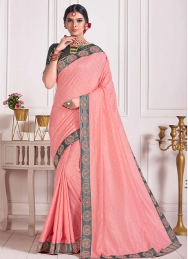 Beads Work Poly Silk Designer Contemporary Saree