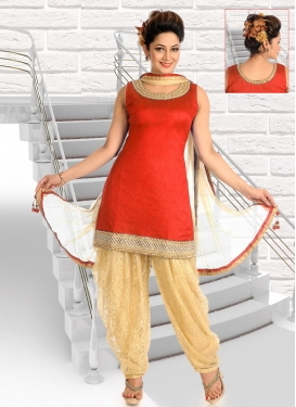 Beads Work Readymade Designer Salwar Suit