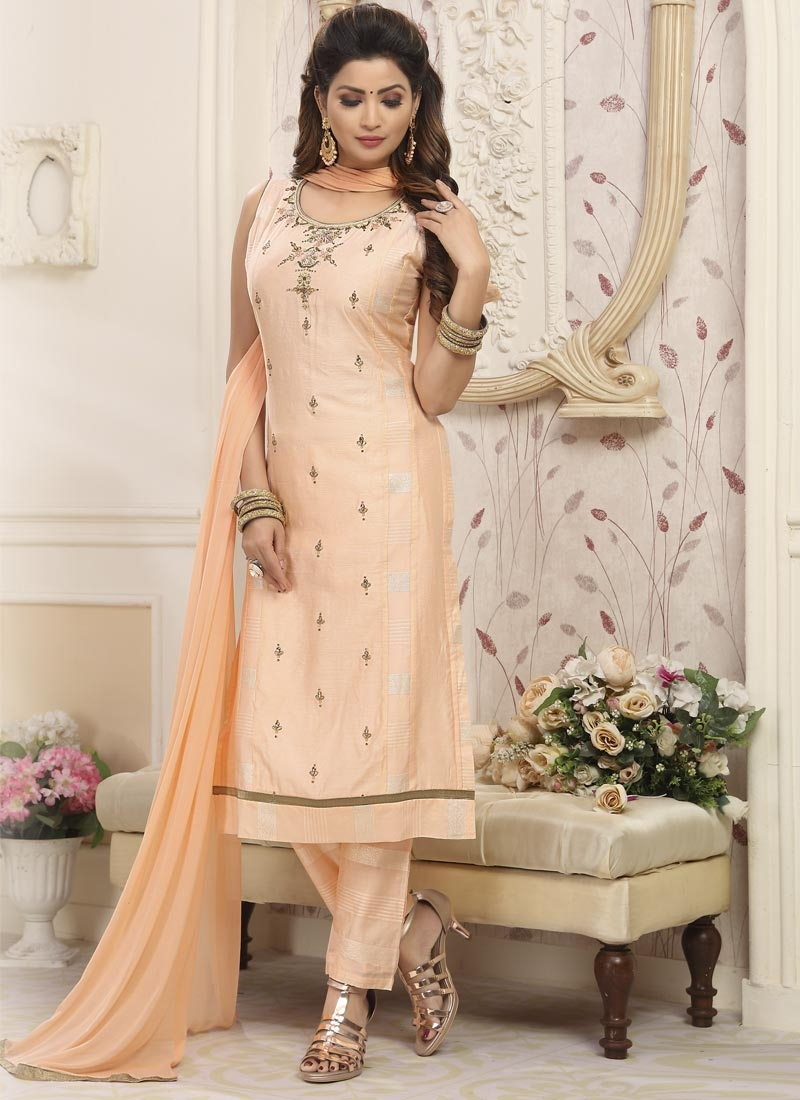 Beads Work Readymade Designer Suit