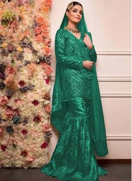 Beads Work Sharara Salwar Kameez