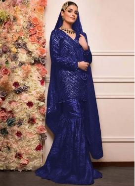Beads Work Sharara Salwar Suit