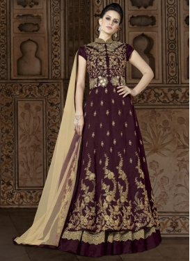 Beads Work Silk Kameez Style Lehenga Choli