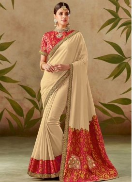 Beads Work Silk Trendy Classic Saree