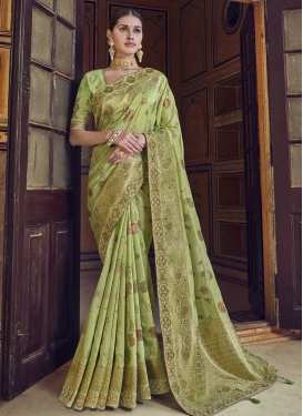Beads Work Traditional Designer Saree