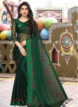 Beads Work Traditional Designer Saree