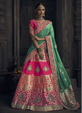 Beads Work Trendy A Line Lehenga Choli