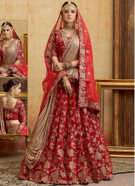 Beads Work Trendy A Line Lehenga Choli