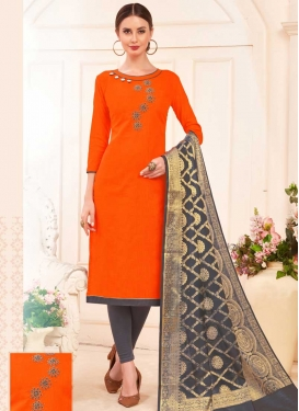 Beads Work Trendy Churidar Salwar Suit