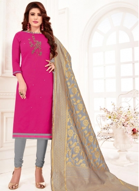 Beads Work Trendy Churidar Suit