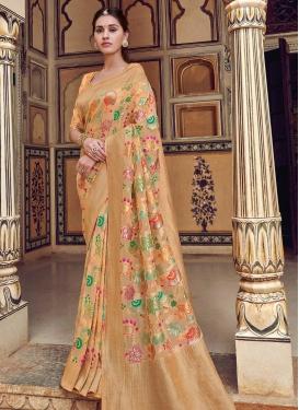 Beads Work Trendy Classic Saree