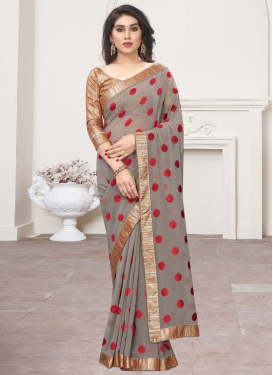 Beads Work Trendy Classic Saree