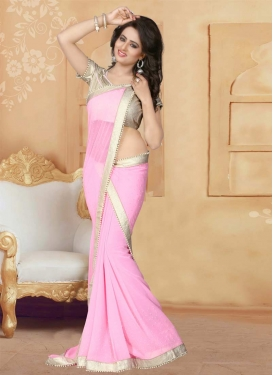 Beads Work Trendy Saree