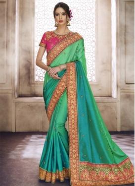 Beads Work Trendy Saree