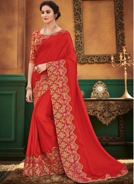 Beauteous Satin Silk Festival Designer Traditional Saree