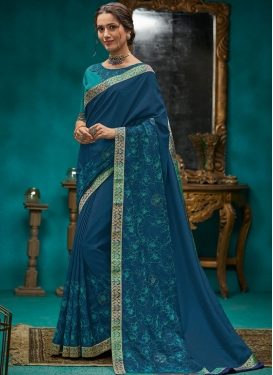 Beautiful Embroidered Designer Traditional Saree
