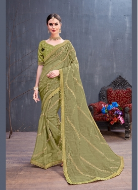 Beautiful Olive Festival Traditional Saree