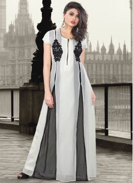 Beckoning Faux Georgette Party Wear Readymade Gown