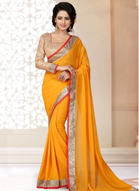 Beckoning Lace Work Casual Saree