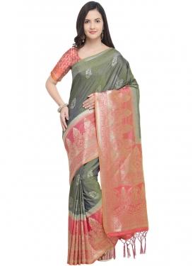 Bedazzling Weaving Art Silk Traditional Designer Saree
