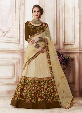 Beige Art Silk Designer Lehenga Choli