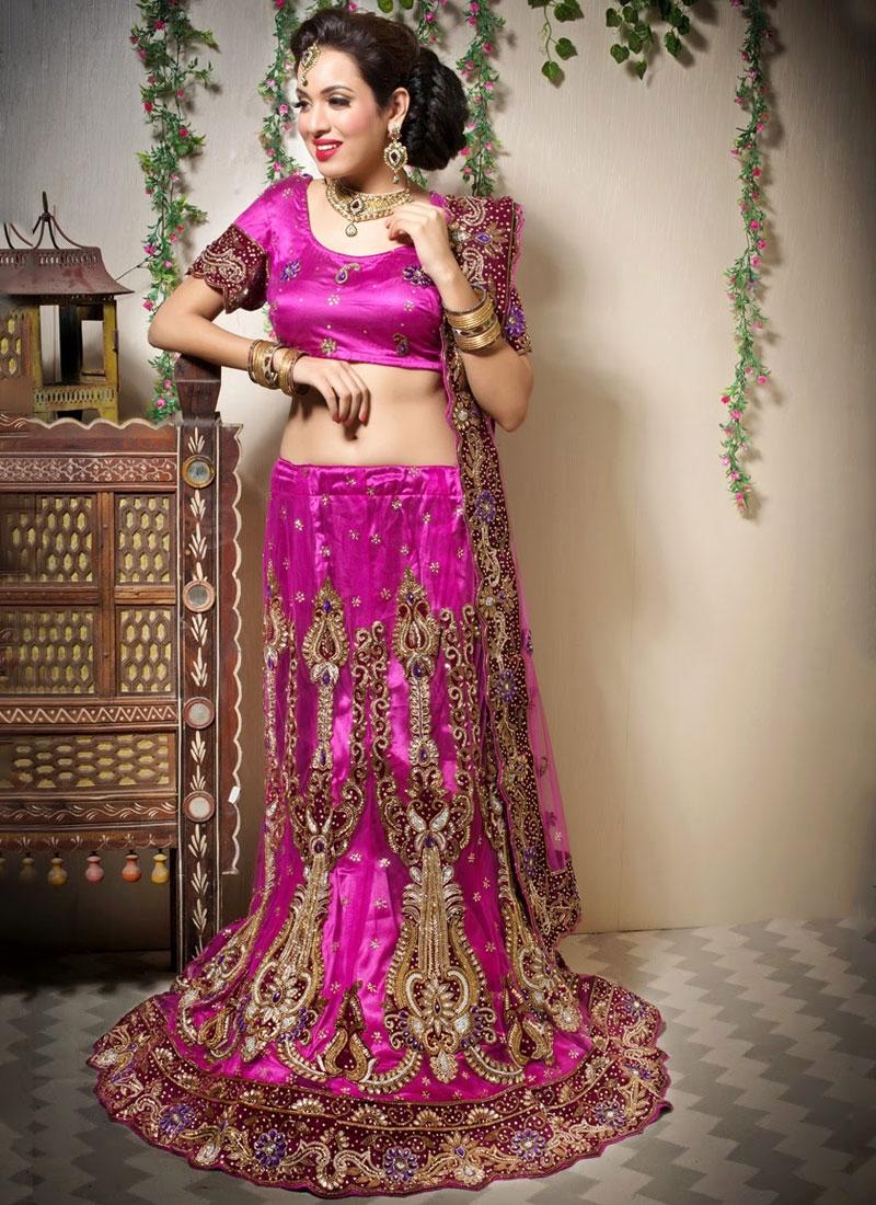 Best Magenta Bridal Designer Lehenga Choli
