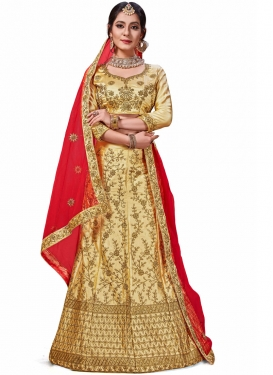 Best Satin Silk Embroidered Trendy Lehenga Choli