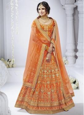 Bhagalpuri Silk A Line Lehenga Choli For Bridal