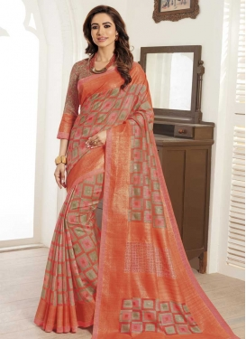 Bhagalpuri Silk Digital Print Work Traditional Designer Saree