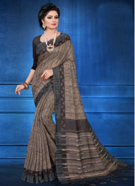 Black and Brown Trendy Saree