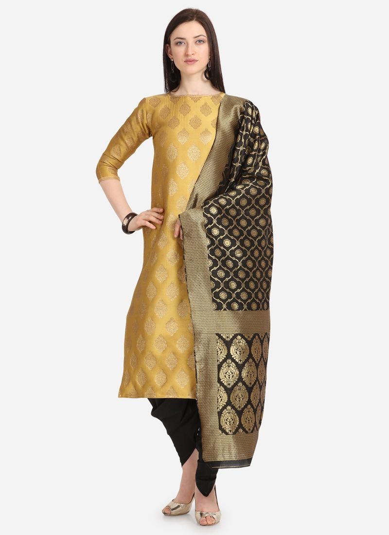 Black and Gold Punjabi Salwar Suit