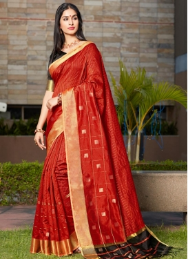 Black and Red Traditional Designer Saree