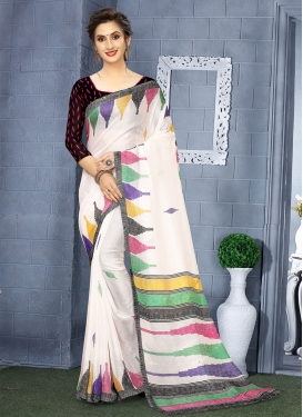 Black and White Contemporary Style Saree