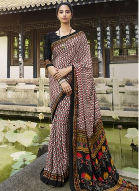 Black and White Traditional Designer Saree