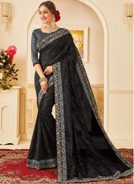Black Color Traditional Designer Saree