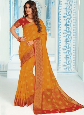 Blooming Art Silk Ceremonial Traditional Saree