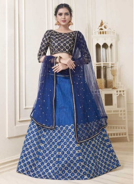 Blue and Navy Blue A Line Lehenga Choli