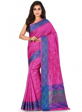 Blue and Rose Pink Traditional Designer Saree