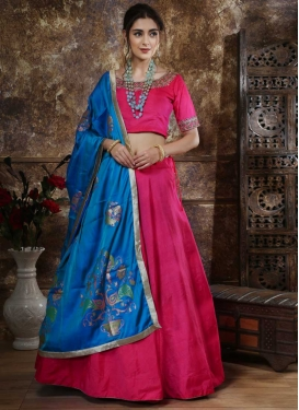 Blue and Rose Pink Trendy Lehenga Choli